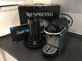 Nespresso Krups Pixie Coffee Maker + Nespresso Capsule Container