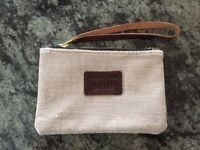 Wills Bees Bespoke Mini Pouch Bag in Silver - Customised with Hollie on the front