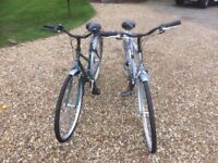 Mens and Ladies Raleigh Pioneer Bicycles excellent condition very little use