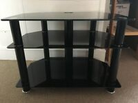 FREE!! Black glass tv stand
