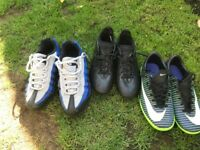 Boys trainers and footy boots