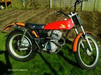 classic honda tl 125 twin shock trials bike