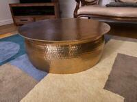 Habitat copper coffee table