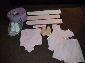 Ballet outfit plus tap shoes and carry case