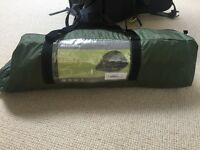 2 person Tent, sleeping bag & hiking 70L pack Combo