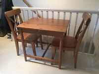Ikea Small Dining Table & 2 Chairs