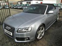 Audi A5 2.0T FSI S Line 2dr [Start Stop] Cabriolet + BLACK LEATHER + FULL SERVICE H... (silver) 2010