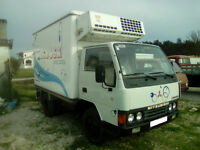 Left hand drive Mitsubishi Canter FE331 6 tyres 5.6 ton fridge freezer ( -30 degrees) box lorry.