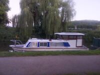 Customised 26' river cruiser/liveaboard on beautiful Avoncliff mooring