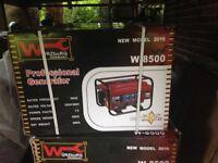 Wurzburg W8500 petrol generator, 2016. Brand New