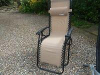 Sun chair/ lounger beige multi position