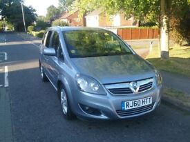 Vauxhall Zafira 1.8i Energy 2010, Silver/blue, low mileage