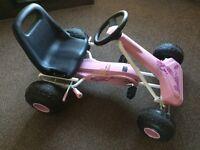 Avigo pink go kart, hardly used (age 5-7)