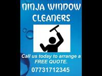 NINJA WINDOW CLEANERS. Gutters, Fascias, Conservatory Cleaning.