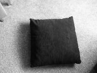 Cushions PAIR black luxurious 55cm X 55cm