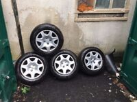 Peugeot 306 wheels with new same tyres