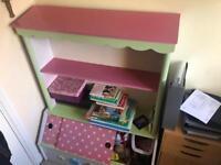 Baby Girl Bookshelf / Toy Storage