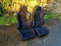 Mitsubishi evo 8 MR recaro seats Honda civic glanza drift jdm