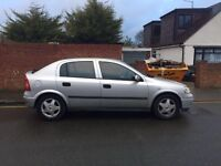 Vauxhall Astra for sale, genuine low mileage, MOT, drives really well.