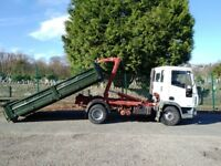 IVECO EUROCARGO 7.5 t Hook Loader 75E17 with 4 skips.