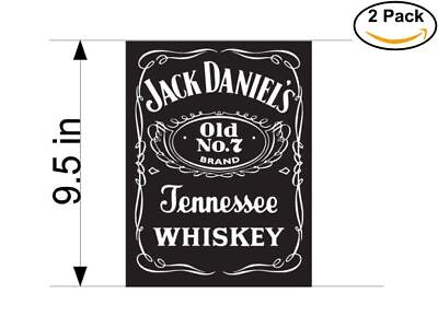 Used, jack daniels logo 2 Stickers 9.5 Inches Sticker Decal for sale  USA