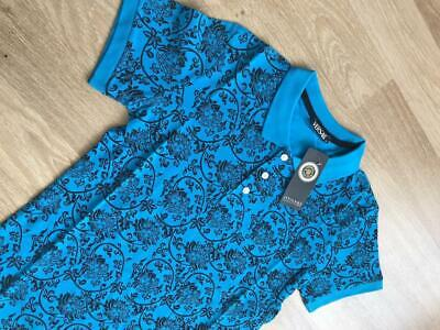Nwt Mens Black and Blue Versace Medusa Classic Short sleeve T Shirt