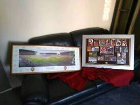2 x framed arsenal pictures