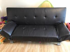 Bentalls faux leather 2-3 seater sofa bed