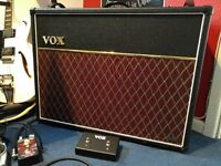 Vox AC30VR electric guitar amp plus footswitch