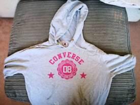 Size 16 grey converse hoodie