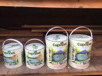 2x 2.5 litre tins & 2x 5 litre tins Cuprinol Seagrass Fence Paint