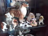 Collection of beautiful ceramic dogs
