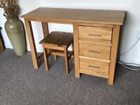 Oak Dressing table or desk