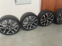 Refurbished 4 x wheels, Land Rover sensors fitted with brand new tyres. £1000 ONO
