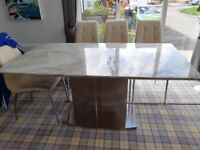 Modern Marble top dining table for sale