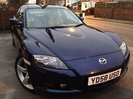 2008 (58) MAZDA RX8 - Blue 1.3 4dr Sports Coupe New MOT Immaculate Mature Owner Bargain £2700 ONO