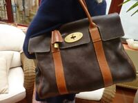 Mulberry Heritage Bayswater Ladies Handbag natural leather rare two tone colour and iconic