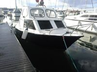 ** 21ft Turbo Diesel Fishing Boat just had full refurb. in the water ready to use. brilliant boat **