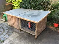 Large rabbit hutch or dog kennel