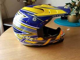Child's motorcross helmet