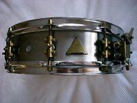 "ABB Custom stainless steel snare drum 14 x 4"" - Handmade, London '80s - Raniero Abbaticola"