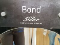 Miller Bond Polished Chrome and Glass Bathroom Accessories