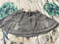 Baby Girls Striped Denim Skirt 12-18 Months