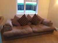 DFS sofas, 4 seater and 3 seater