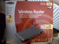 BELKIN WIRELESS ROUTER (£15 ONO)