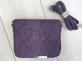 New Purple faux snake skin effect small purse