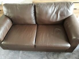 3 seater and 2 seater false leather sofas