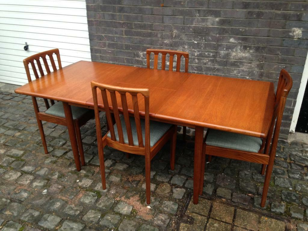 Vintage 60s 70s Meredew Extending Dining Table Amp Chairs