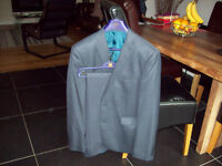 "Mens NEXT grey suit - 36"" waist 44"" Jacket with NEXT suit dust cover"