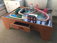 Early Learning Wooden Rail Train Table and Trains